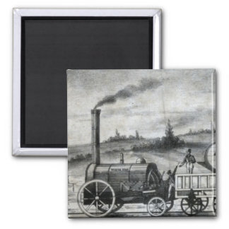 Vintage 1831 Rail Train Bookmark 2 Inch Square Magnet