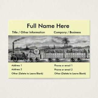 Vintage 1831 Rail Train Bookmark Business Card