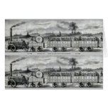 Vintage 1831 Rail Train Bookmark Stationery Note Card