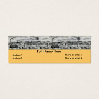 Vintage 1831 Rail Train Bookmark Mini Business Card