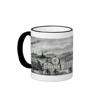 Vintage 1831 Rail Train Bookmark Ringer Coffee Mug