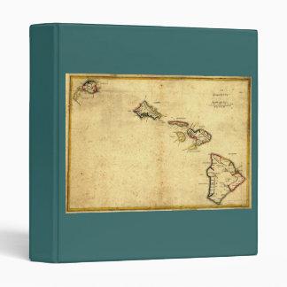 Vintage 1837 Hawaii Map -  Hawaiian Islands Binder