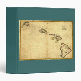 Vintage 1837 Hawaii Map -  Hawaiian Islands Vinyl Binder