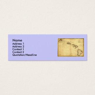Vintage 1837 Hawaii Map -  Hawaiian Islands Mini Business Card