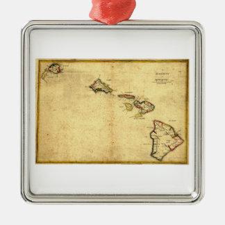 Vintage 1837 Hawaii Map -  Hawaiian Islands Ornament