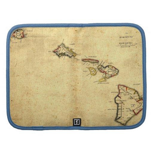 Vintage 1837 Hawaii Map -  Hawaiian Islands Folio Planner