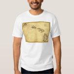 Vintage 1837 Hawaii Map -  Hawaiian Islands T-shirt