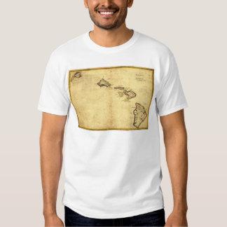 Vintage 1837 Hawaii Map -  Hawaiian Islands Tee Shirt