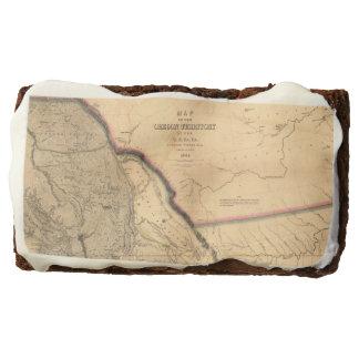 Vintage 1841 Oregon Pacific Northwest Map Brownie