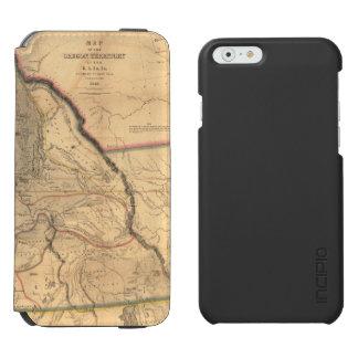 Vintage 1841 Pacific Northwest Map iPhone 6/6s Wallet Case