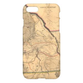 Vintage 1841 Pacific Northwest Map iPhone 8/7 Case