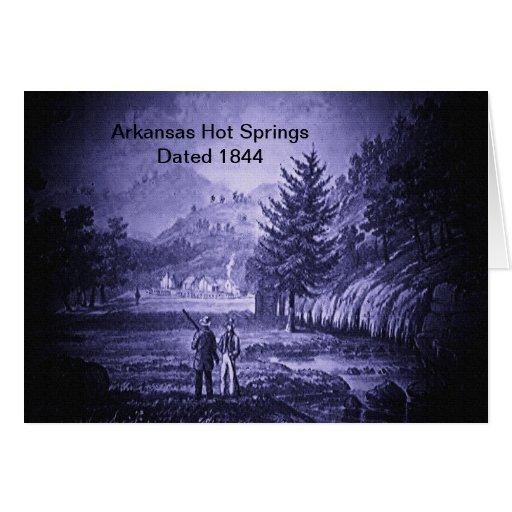Vintage 1844 de las aguas termales de Arkansas Tarjeta De Felicitación