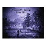Vintage 1844 de las aguas termales de Arkansas Postal