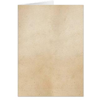 Vintage 1850 Parchment Paper Template Blank Card