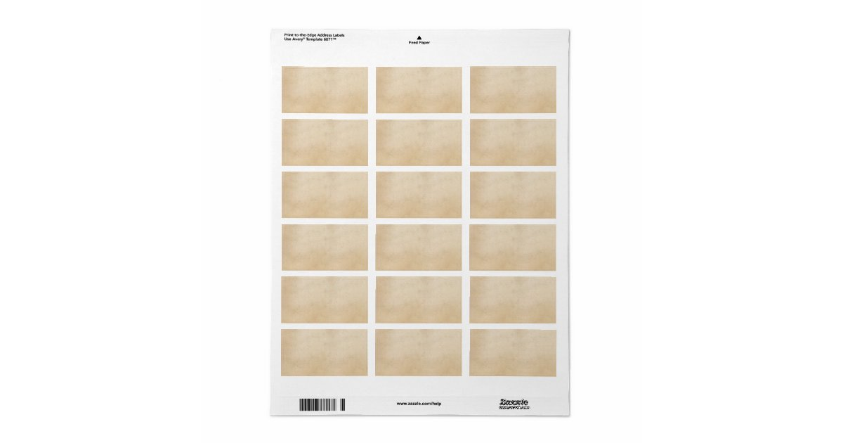 Vintage  Parchment Paper Template Blank Label  Zazzle