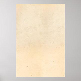 Vintage 1850 Parchment Paper Template Blank Poster