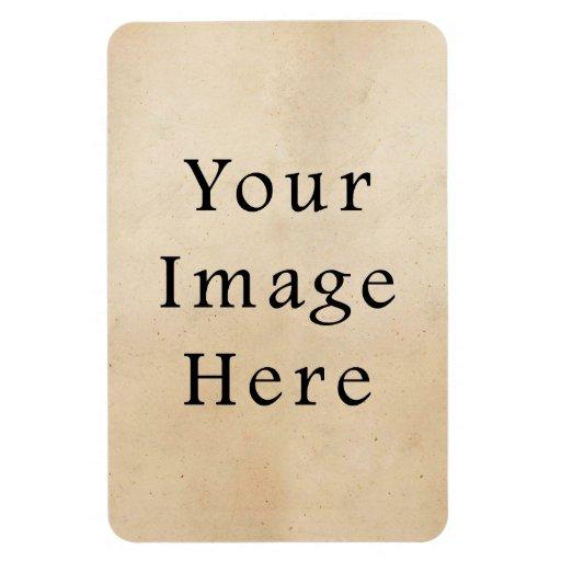 Vintage 1850s Tan Beige Parchment Paper Background Vinyl Magnet