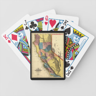 Vintage 1851 California Gold Region State Map Bicycle Playing Cards