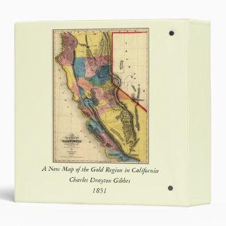 Vintage 1851 California Gold Region State Map Binder