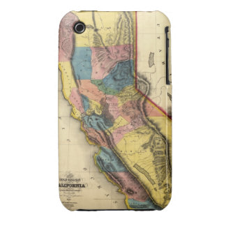 Vintage 1851 California Gold Region State Map Case-Mate iPhone 3 Cases