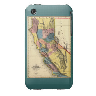 Vintage 1851 California Gold Region State Map iPhone 3 Case-Mate Cases