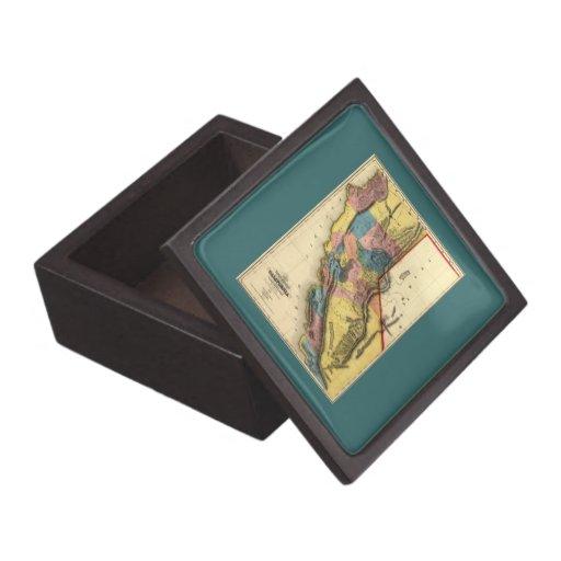 Vintage 1851 California Gold Region State Map Premium Gift Box
