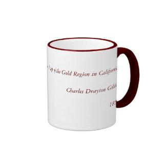 Vintage 1851 California Gold Region State Map Ringer Mug