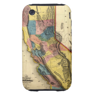 Vintage 1851 California Gold Region State Map Tough iPhone 3 Cover