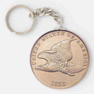 Vintage 1858 Flying Eagle Cent Keychain
