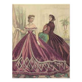 Vintage 1860s Women Tea Party Custom Invitations