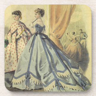 Vintage 1860s Women V3 Beverage Coaster