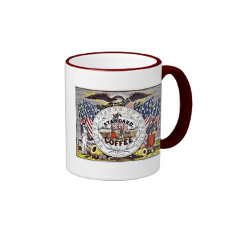 Vintage 1862 American civil war coffee Ringer Mug