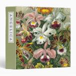 Vintage 1865 Botanical Orchids Illustration Vinyl Binder