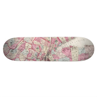 Vintage 1868 Map of New York Skateboard Deck
