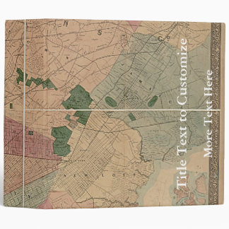 Vintage 1872 Brooklyn Map - New York City, Queens Binder