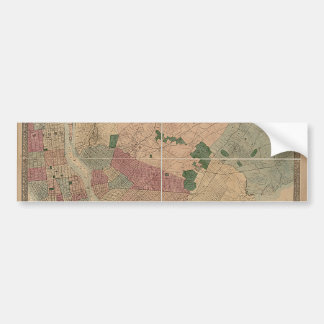 Vintage 1872 Brooklyn Map - New York City, Queens Bumper Sticker