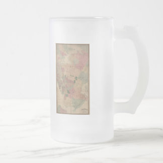 Vintage 1872 Brooklyn Map - New York City, Queens Frosted Glass Beer Mug
