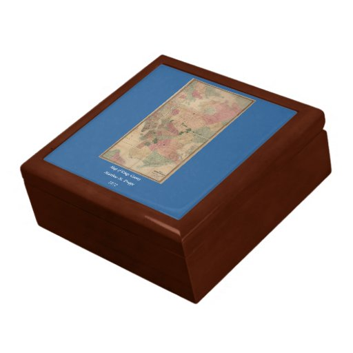 Vintage 1872 Brooklyn Map - New York City, Queens Gift Boxes