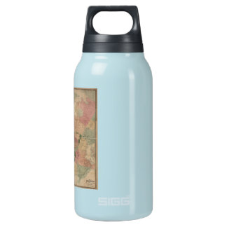 Vintage 1872 Brooklyn Map - New York City, Queens Insulated Water Bottle
