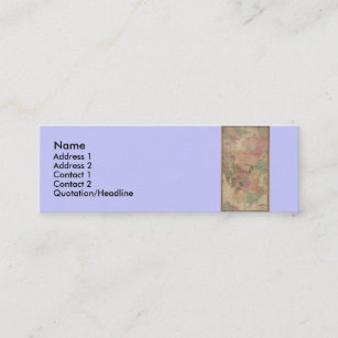 Queens new york business cards templates zazzle vintage 1872 brooklyn map new york city queens mini business card reheart Images