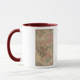 Vintage 1872 Brooklyn Map - New York City, Queens Mug