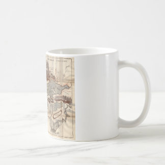 Vintage 1879 Lower Saranac Lake Reconnaissance Map Coffee Mug