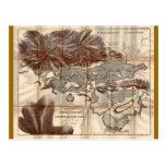 Vintage 1879 Lower Saranac Lake Reconnaissance Map Post Card
