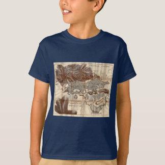 Vintage 1879 Lower Saranac Lake Reconnaissance Map T-Shirt