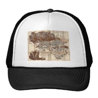 Vintage 1879 Lower Saranac Lake Reconnaissance Map Trucker Hat