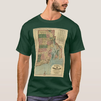 Vintage 1880 Rhode Island Map T-Shirt