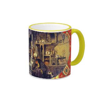 """Vintage-1880's Turkish Coffee House-'in Türk Kahv Ringer Mug"