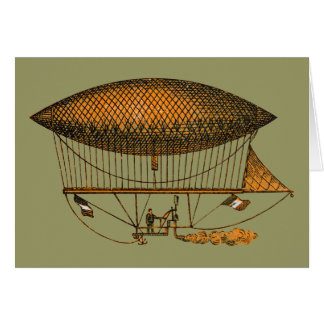 Vintage 1883 Traveling Zeppelin Card