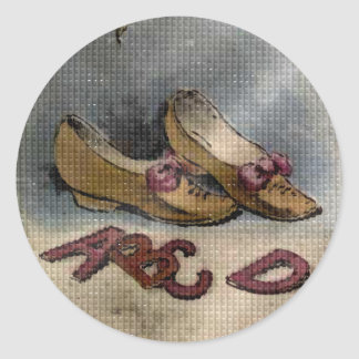 Vintage 1885 Goody Two Shoes ABC Fun Stickers