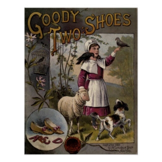 vintage 1888 Book cover Goody-Two Shoes Poster